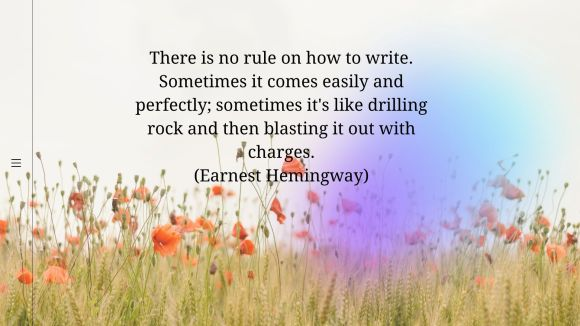 There is no rule on how to write. Sometimes it comes easily and perfectly; sometimes it's like drilling rock and then blasting it out with charges